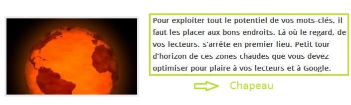 Chapeau article
