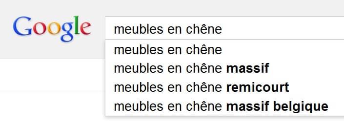 Google vous suggère des requêtes