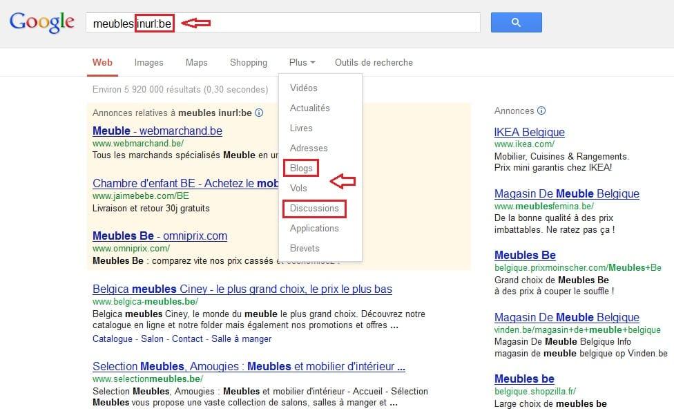 Limiter la recherche Google aux blogs ou discussions