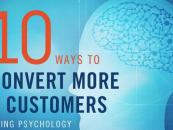 [Infographie] 10 façons de convertir plus de clients en utilisant la psychologie.