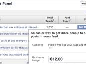 Changement dans l'admin des pages Facebook et dans le prix