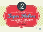 Infographie : 12 idées de concours Facebook pour Noël