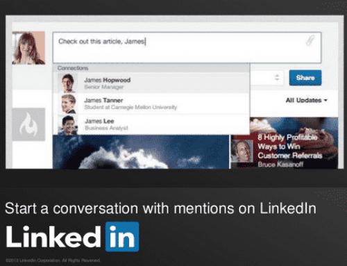 LinkedIn favorise les conversations avec les mentions