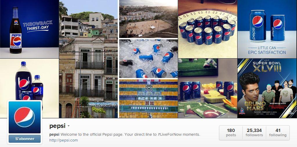 Pepsi sur Instagram
