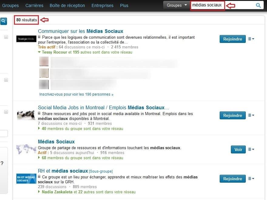 """Résultats de recherche sur LinkedIn pour la requête """"médias sociaux"""""""