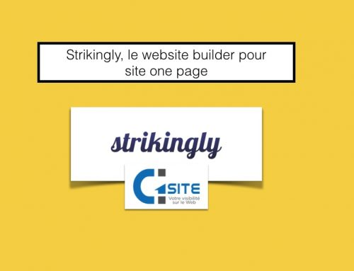 Strikingly, le website builder pour site one page